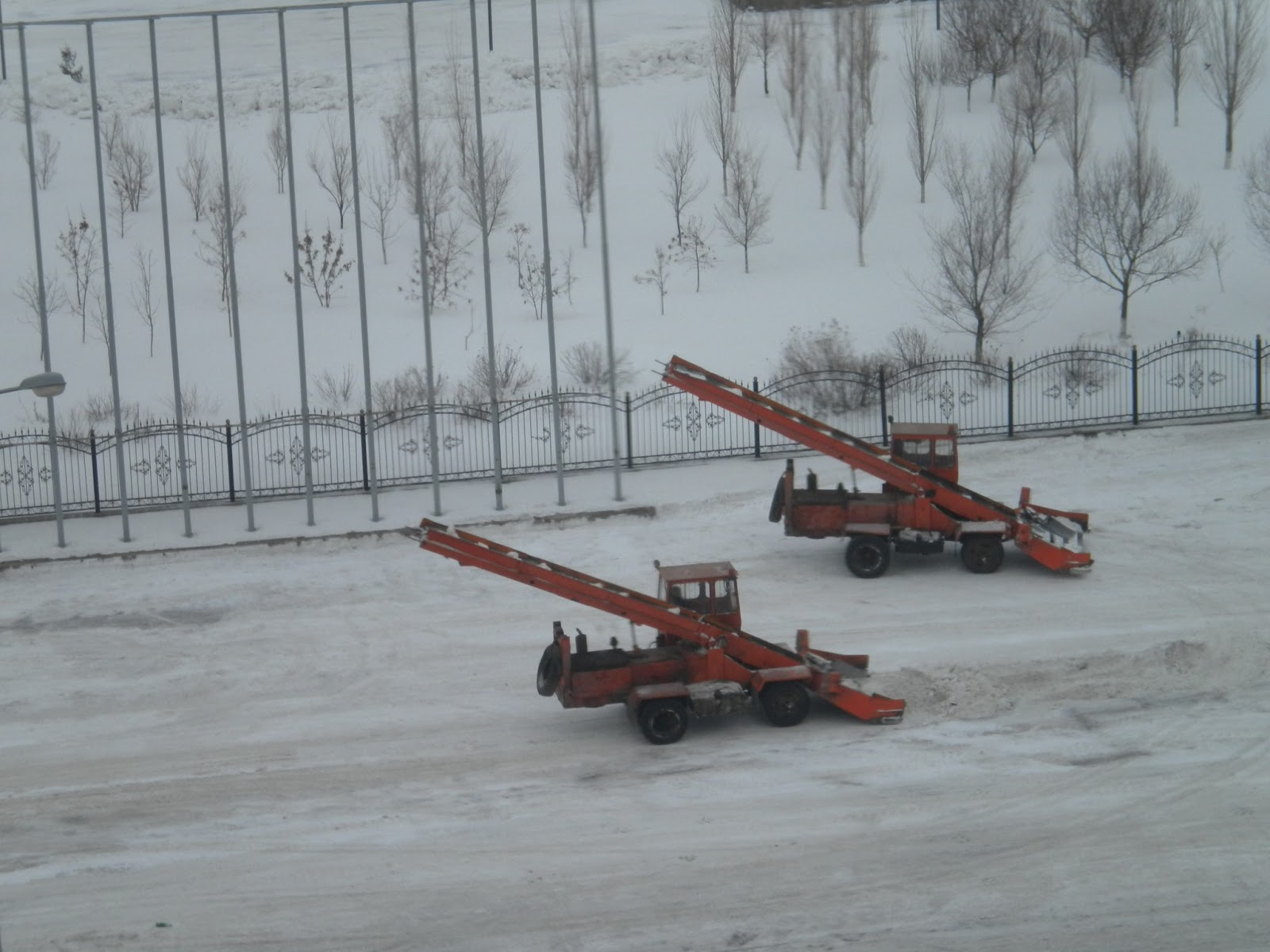 Clearing Snow in Astana