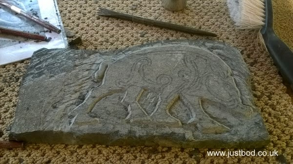 Pictish Boar Carving Process