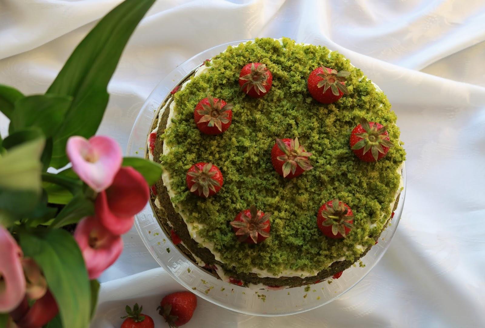 przepis na ciasto truskawkowe pole