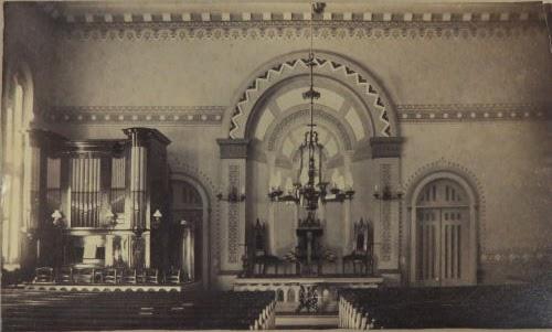 Interlaken Baptist Church interior prior to 1911