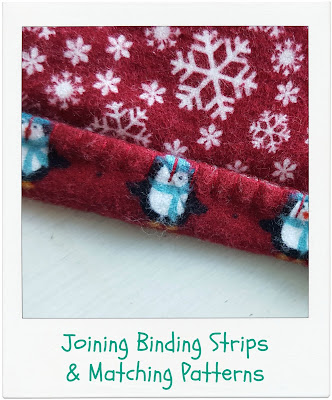 Joining Binding Strips + Matching Patterns by www.madebyChrissieD.com