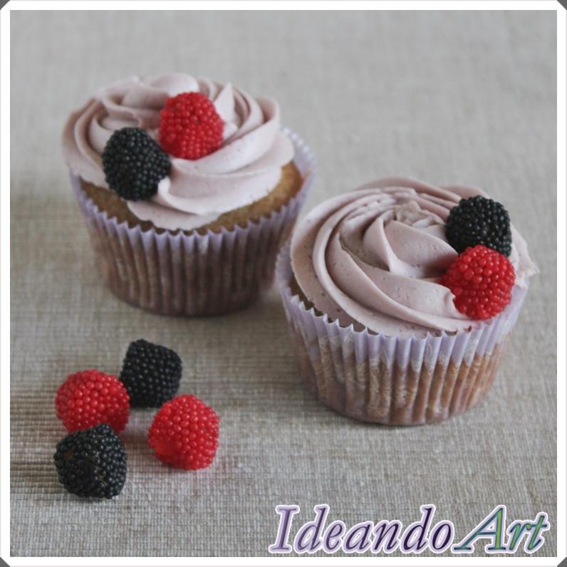 Cupcakes de moras