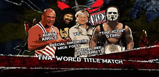 TNA Destination X 2009: Kurt Angle faced Sting for the TNA Title