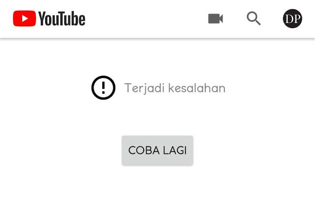 Tidak Bisa Diakses, Youtube Sedang Maintenance