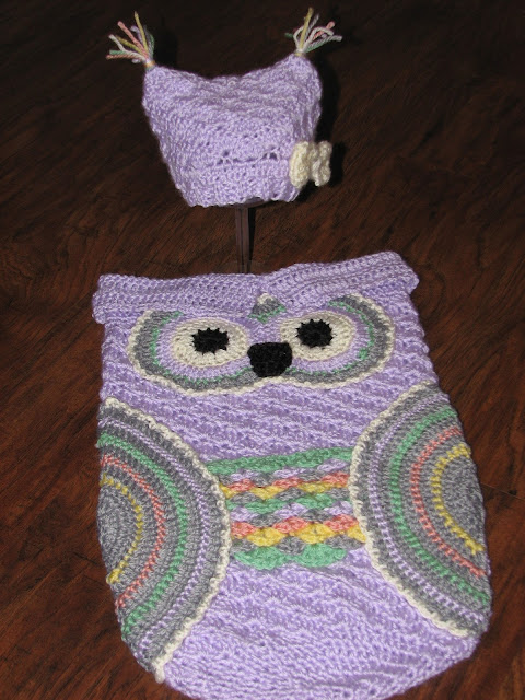 Creative Crochet By Becky Crochet Baby Owl Cocoon With Hat In