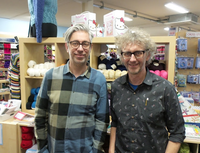 Arne and Carlos at Black Sheep Wools