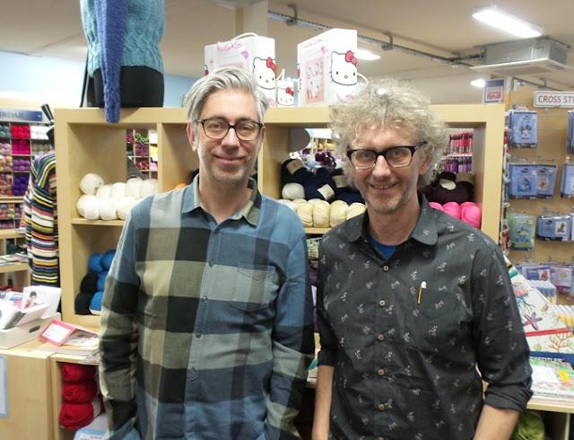 Arne and Carlos at Black Sheep Wools