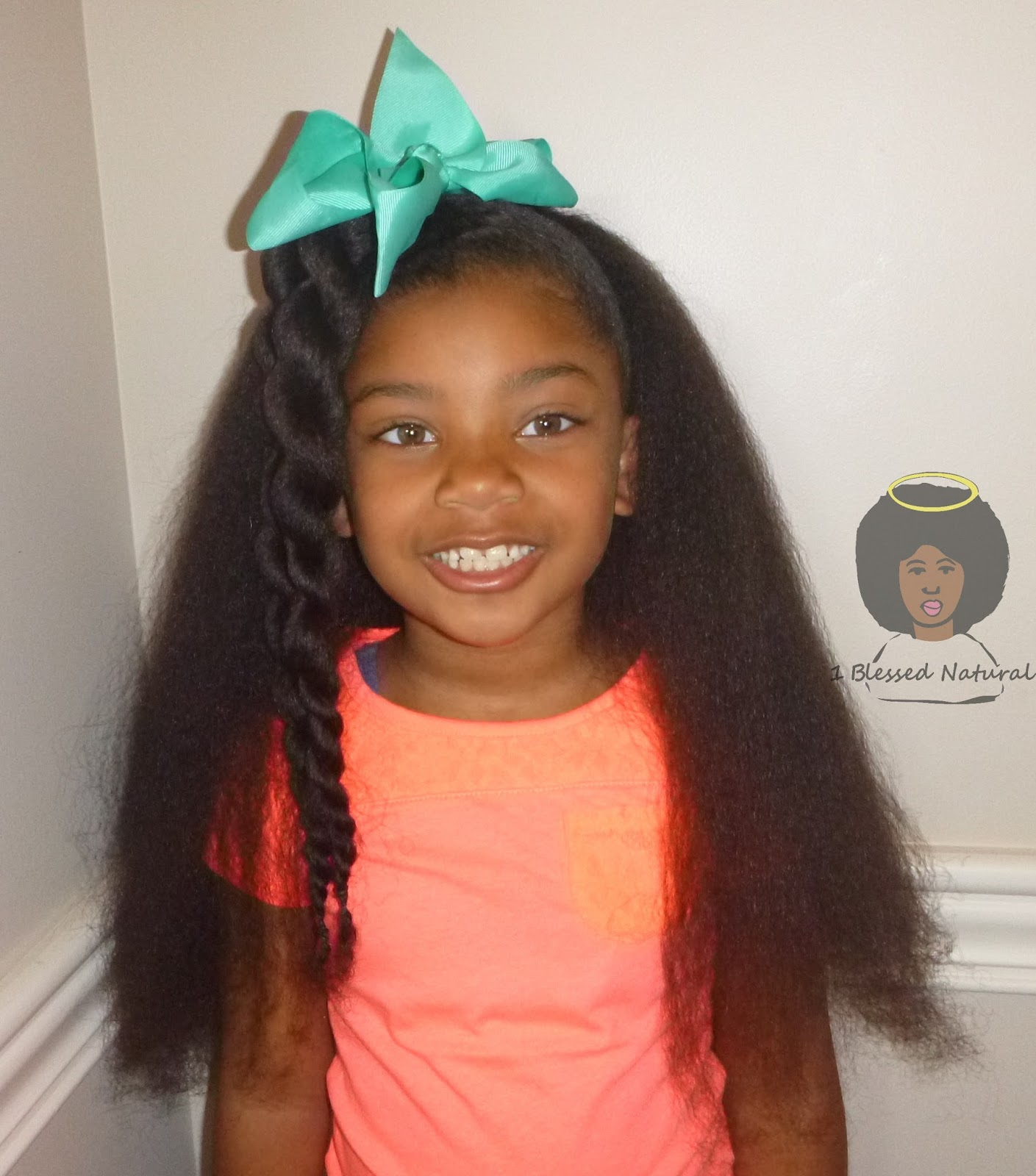 1bn Kids Little Sister Naturals Half Up Twists Half Down Style