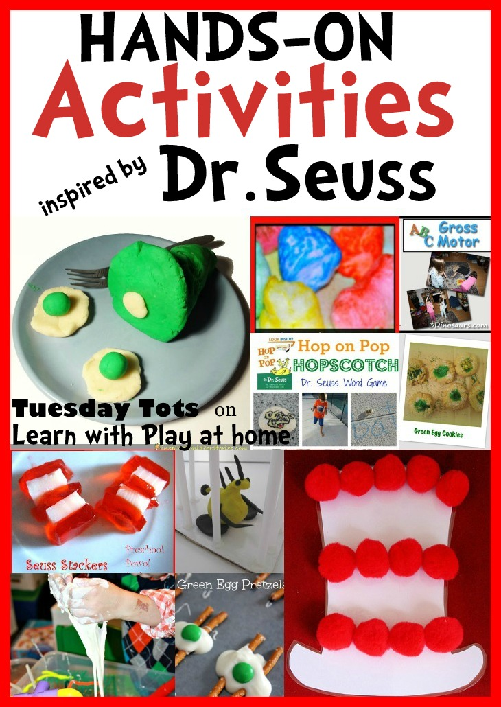 Learn With Play At Home Hands On Activities Inspired By Dr Seuss