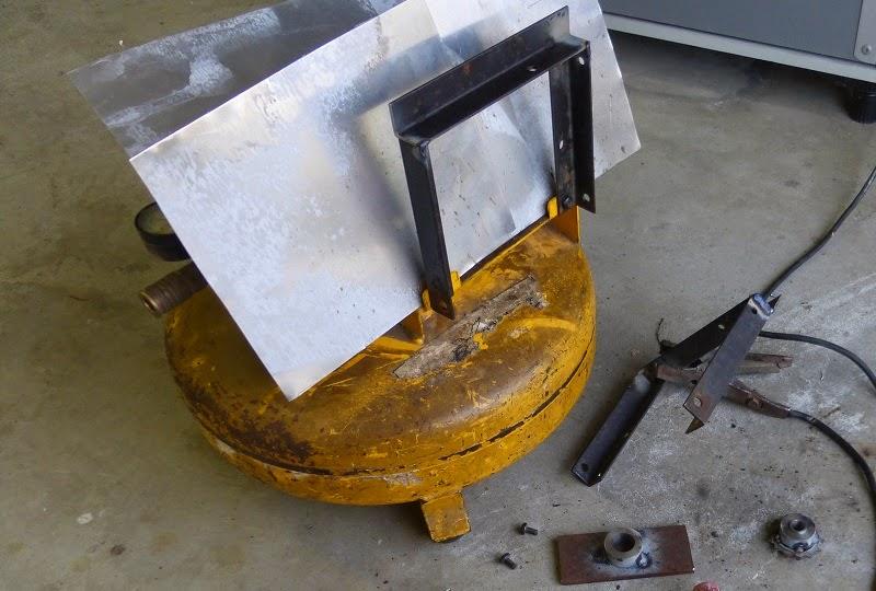 welding bicycle compressor support rails