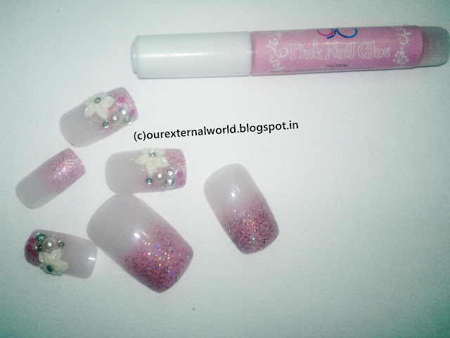 Pink Nail Art Salon Finish Artificial Nails