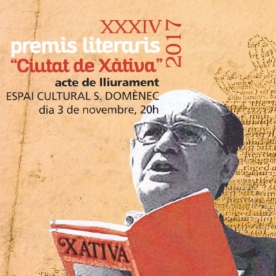 XXXIV Premis Literaris Ciutat de Xàtiva