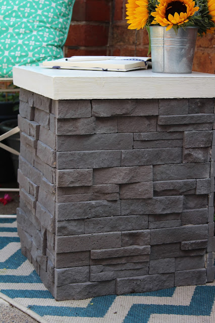 modern rustic table made with tiles from UK feature walls