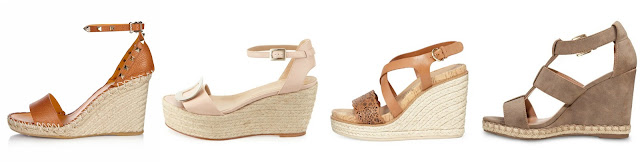One of these pairs of wedge espadrille sandals is from Target for $30 and the other three are from designers for $695+. Can you guess which one is the more affordable pair? Click the links below to see if you are correct!