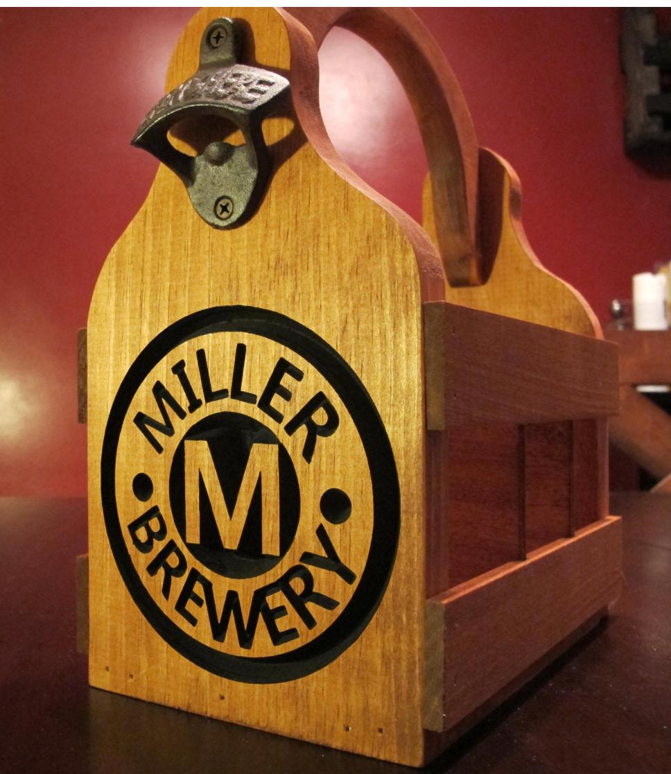 Beer Caddy / 6-Pack Holder - Miller Style
