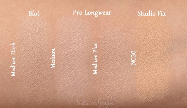 MAC Pro Longwear Pressed Powder Medium Plus Swatches