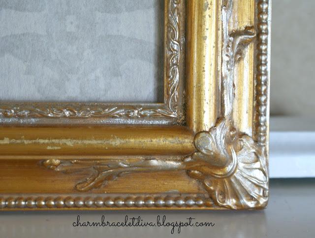 ornate vintage gilded thrift store frame