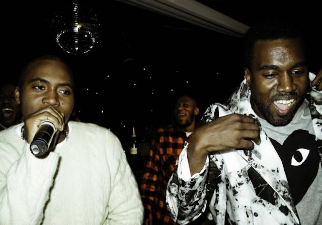 VÍDEO: Kanye West mostra para um grupo de pessoas um trecho do álbum do Nas.
