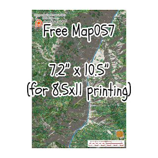 Free Map057 Suitable for Letter Printing