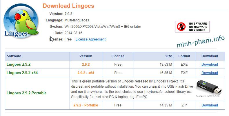 Từ điển miễn phí đa ngôn ngữ Lingoes