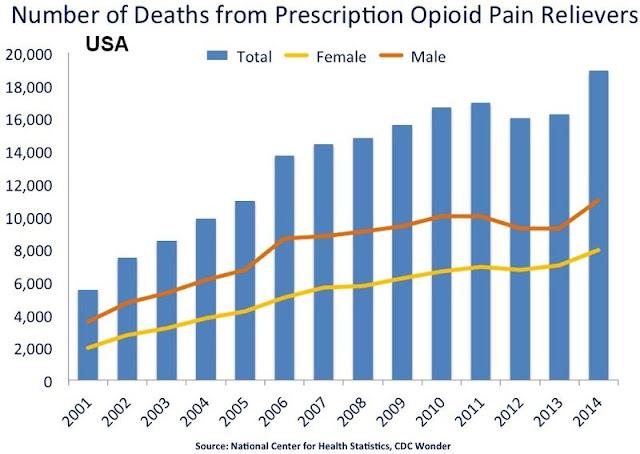 muerte por opiaceos médicos en Estados Unidos