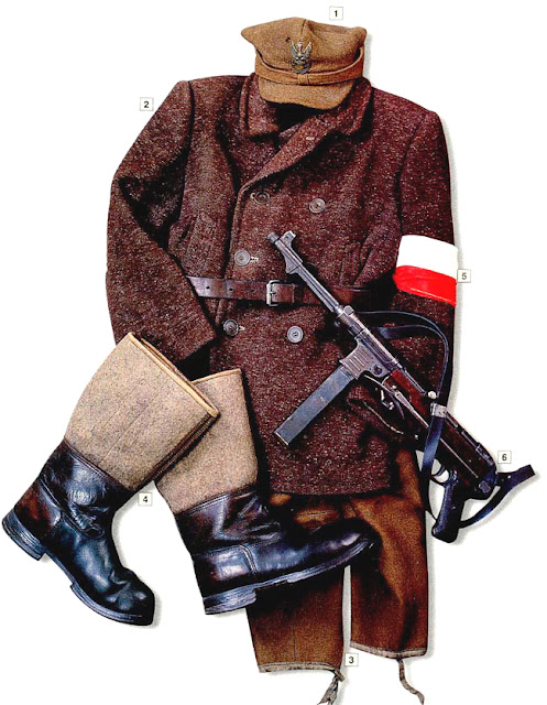 WW2 Military Uniform Partisan of the Peasant Battalions (Bataliony Chlopskie) Poland 1942