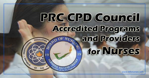 PRC accredited CPD programs, providers for nurses