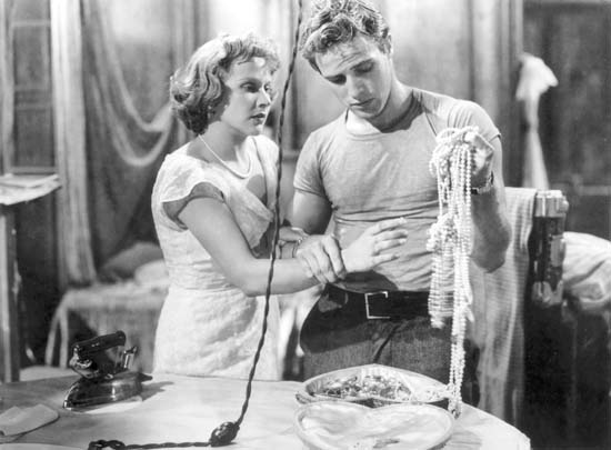 Young Marlon Brando as Stanley Kowalski