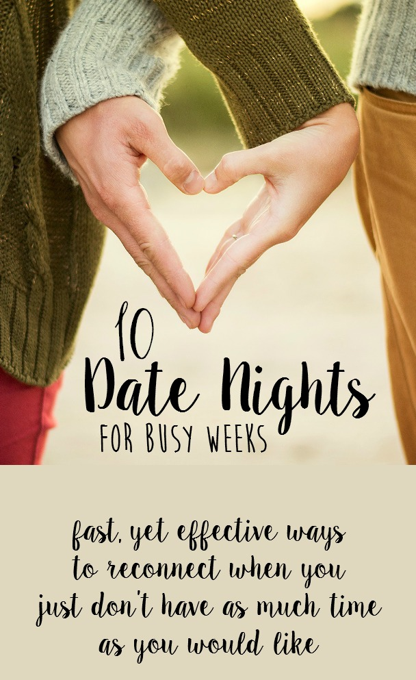 ways to reconnect with your spouse on date night