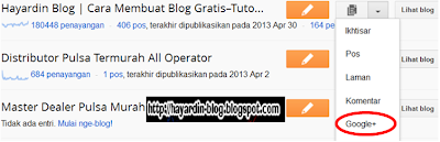 Cara Memasang Kotak Komentar Google Plus di Blogger