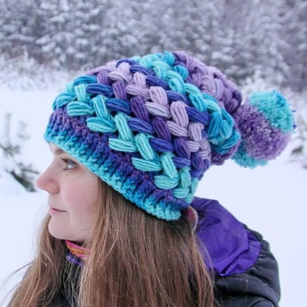 Patrón #1523: Gorro a Crochet