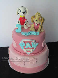 paw patrol birthday cake sugar paste