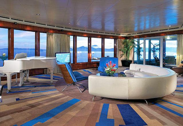 Wohnzimmer der Garden Villa von The Haven by Norwegian™ (C) NCL