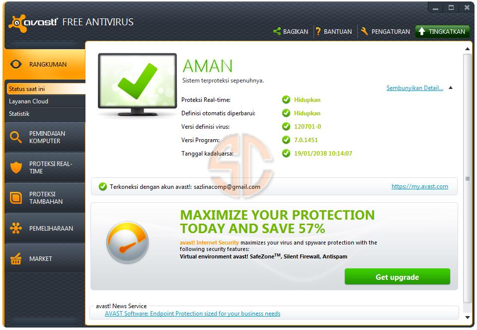 download avast key