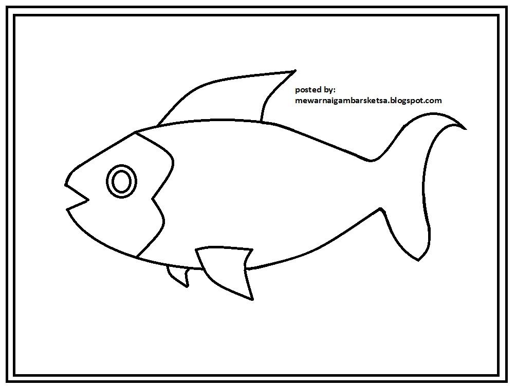770 Koleksi Gambar Sketsa Binatang Ikan Gratis