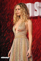 Jennifer Lawrence in a golde glittering gown at Red Sparrow Premiere in London ~  Exclusive Galleries 033.jpg