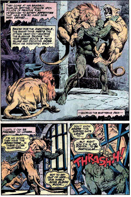 Swamp Thing v1 #12 1970s bronze age dc comic book page art by Nestor Redondo