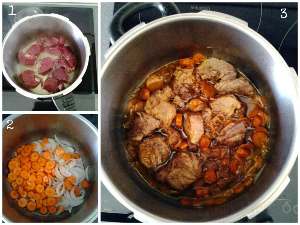 Elaboración de solomillo en salsa de zanahoria y soja