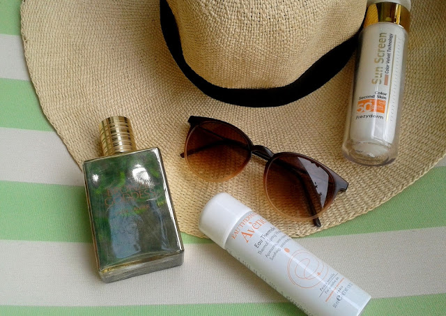 summer essentials, frezyderm, sunscreen velvet, avene, eau thermale, estee lauder, bronze goddess