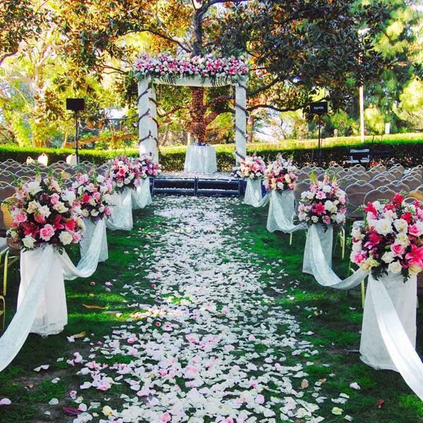 Flower Aisle Wedding: Flower Petals Down Aisle Wedding