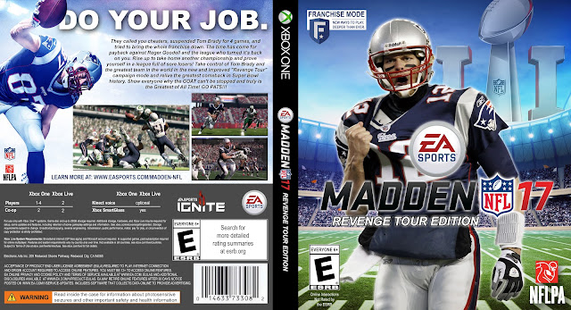 Capa Madden NFL 17 Revenge Tour Edition Xbox One