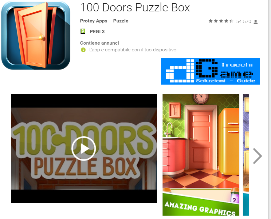 Soluzioni 100 Doors Puzzle Box livello 61 62 63 64 65 66 67 68 69 70 | Trucchi e  Walkthrough level