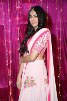 Adaa Sharma in White Pink Saree at Zee Telugu Apsara Awards 2017 33.JPG