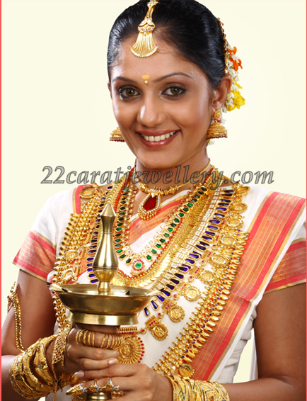 22K Gold Kerala Traditional Jewelry Jewellery Designs