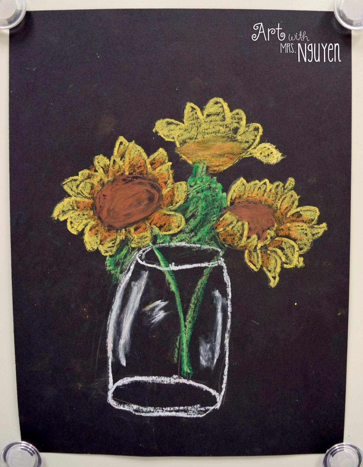 Van Gogh Sunflower Drawings 2nd