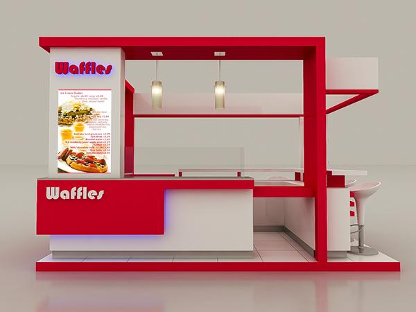 Booth Makanan Unik Stand Makanan Mall Food Court