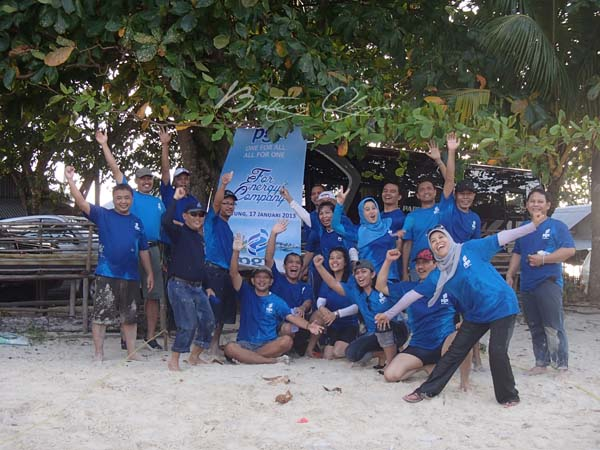Outbound training fun games belitung tour