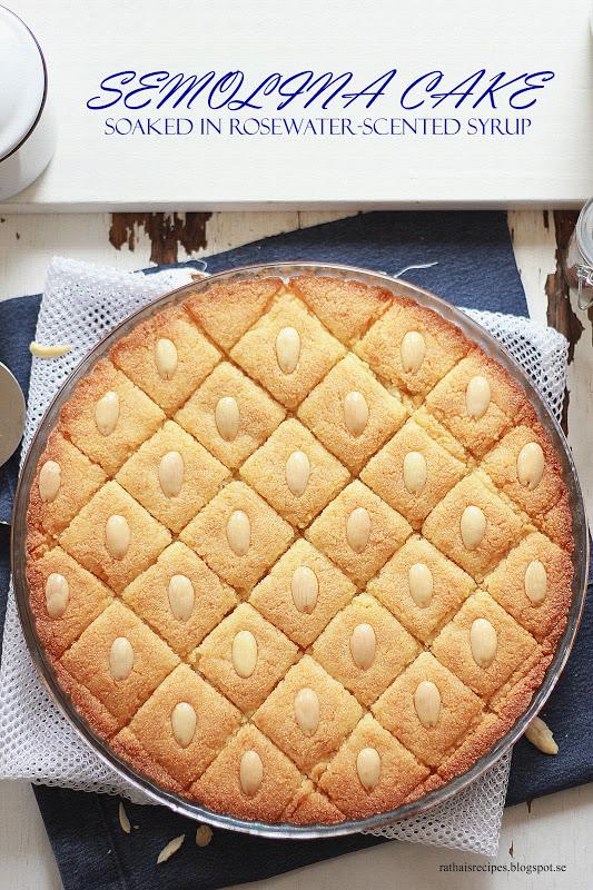 Greek Semolina Cake Orange Syrup