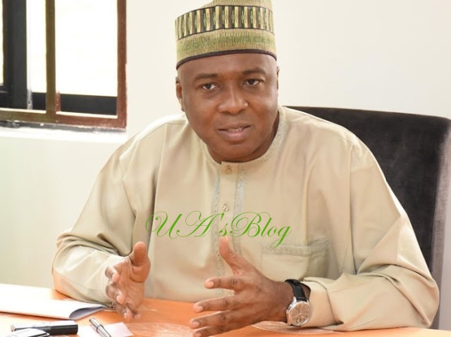 BREAKING News: Saraki Addresses World Press Conference, Denies Giving DSS Order To Invade NASS