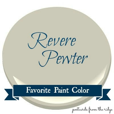Favorite Paint Color Benjamin Moore Revere Pewter Postcards From